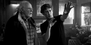 (Left to right) Bruce Dern and Alexander Payne on the set of NEBRASKA, from Paramount Vantage in association with FilmNation Entertainment, Blue Lake Media Fund and Echo Lake Entertainment. NEB-02588